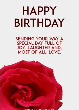 New cute Happy Birthday Wishes for father mother sister brother wife husband girlfriend boyfriend 29