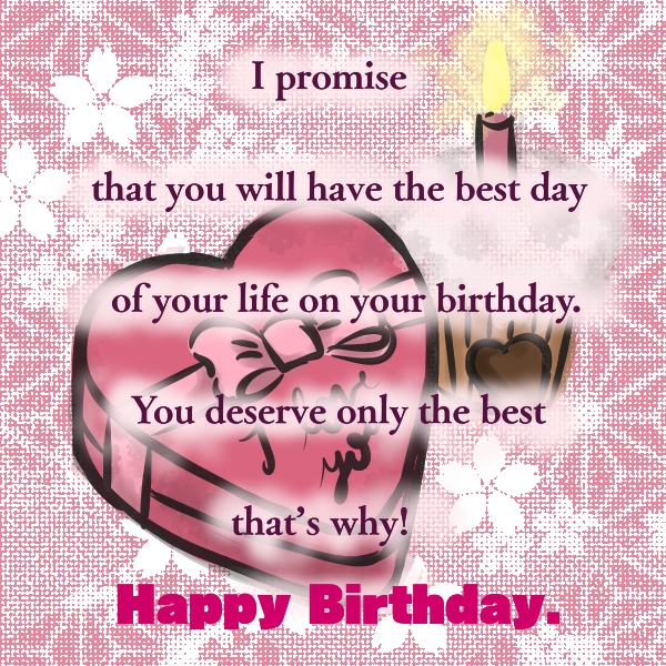 New cute Happy Birthday Wishes for father mother sister brother wife husband girlfriend boyfriend 30