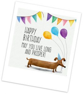 birthday wish for a friend on pic with cute dog 500x500 1