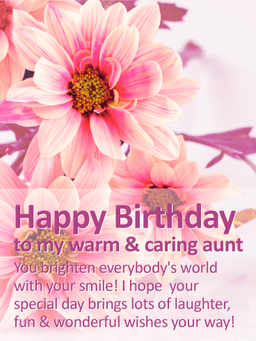 happy birthday dear aunty