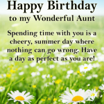 Happy Birthday Wishes for Aunt​