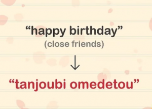 How To Say Happy Birthday In Japanese